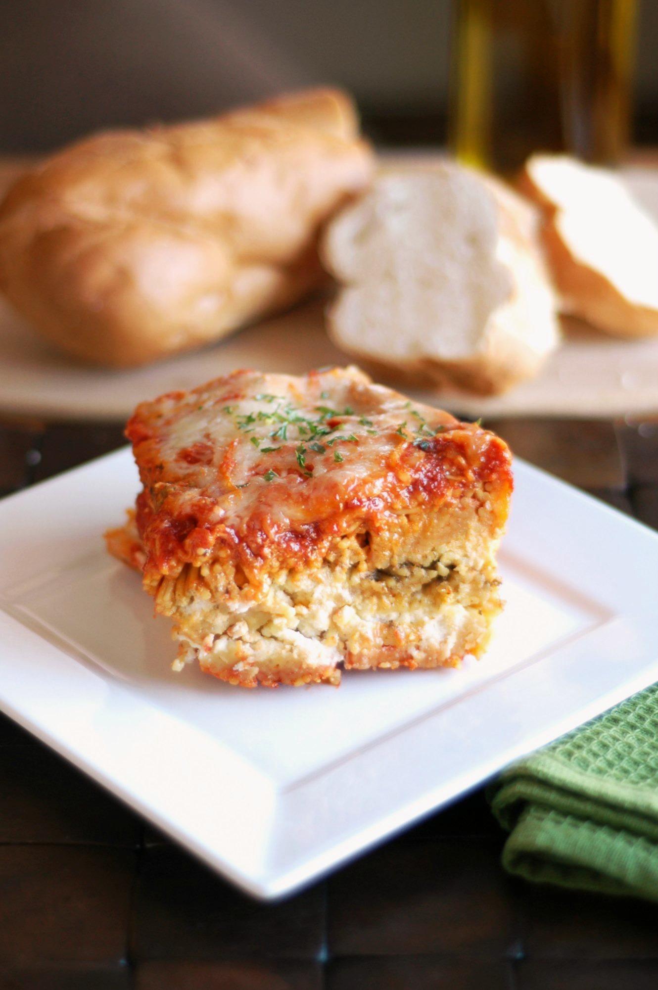 Crockpot spaghetti lasagna