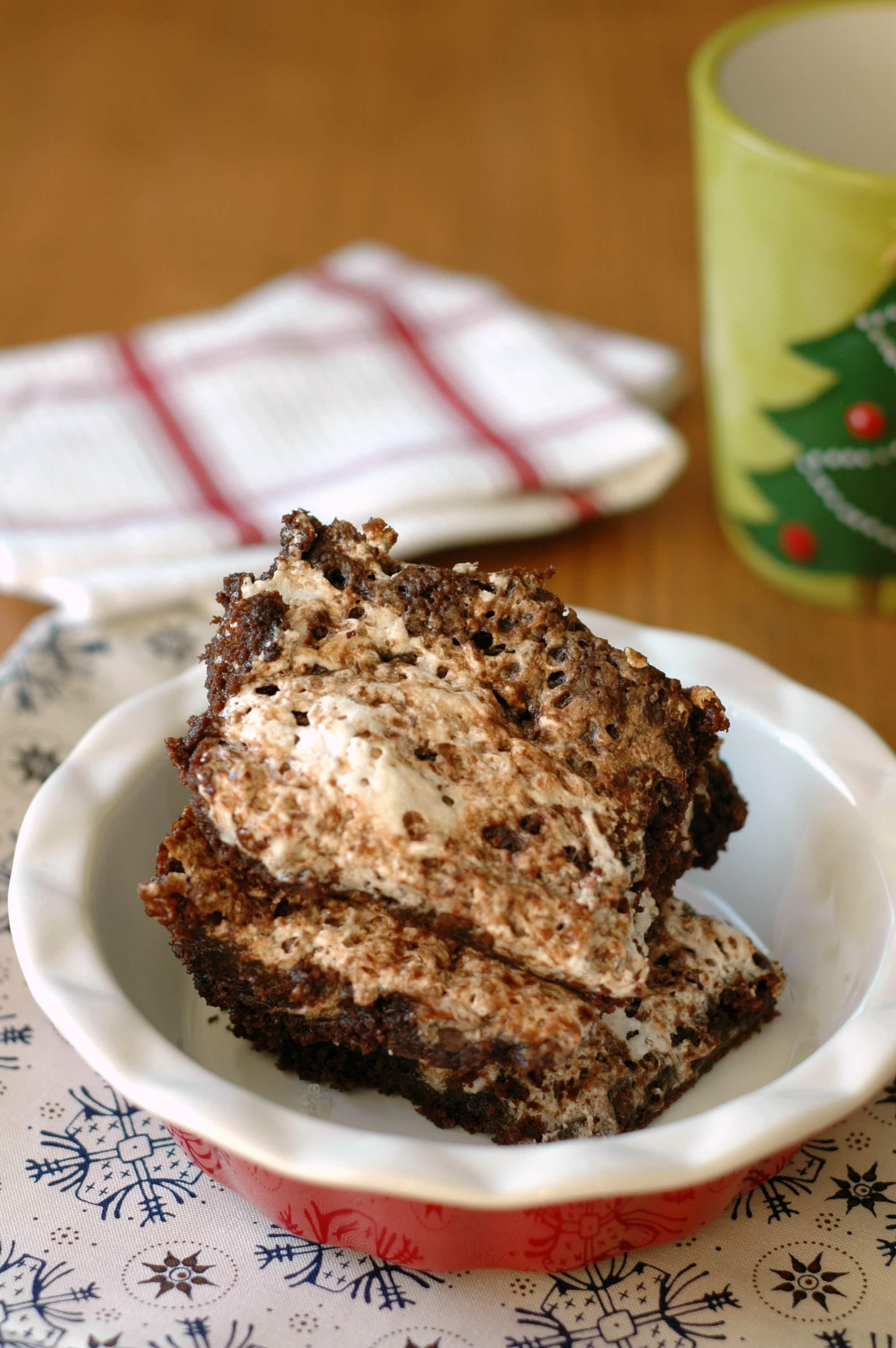 Slow Cooker Hot Chocolate Brownies