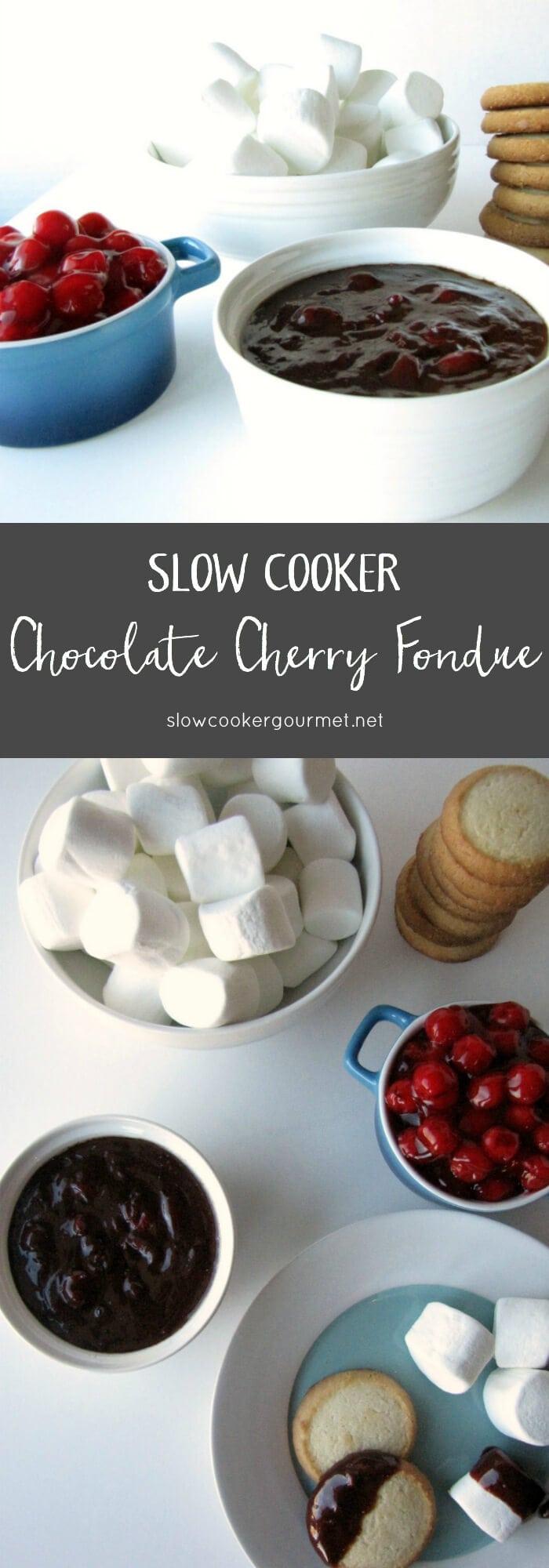 Slow Cooker Gourmet Chocolate Cherry Fondue