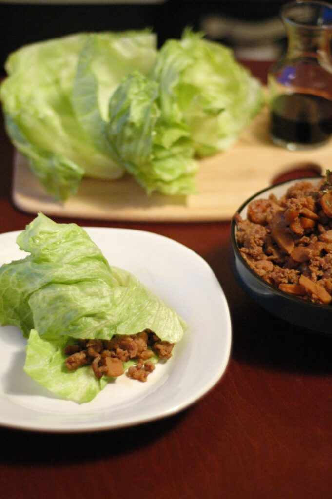 Slow Cooker Spicy Asian Pork Lettuce Wraps Slow Cooker