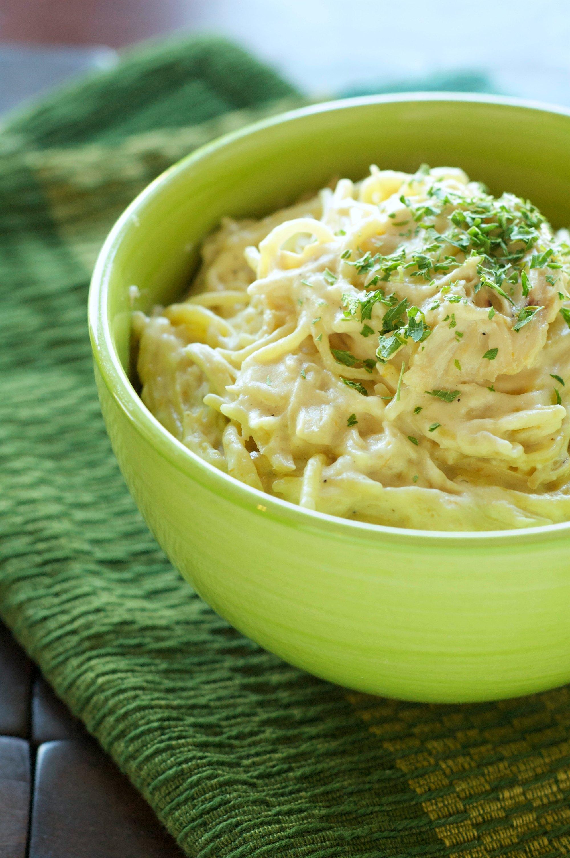 Crockpot Creamy Cheesy Chicken Spaghetti   Crockpot Gourmet