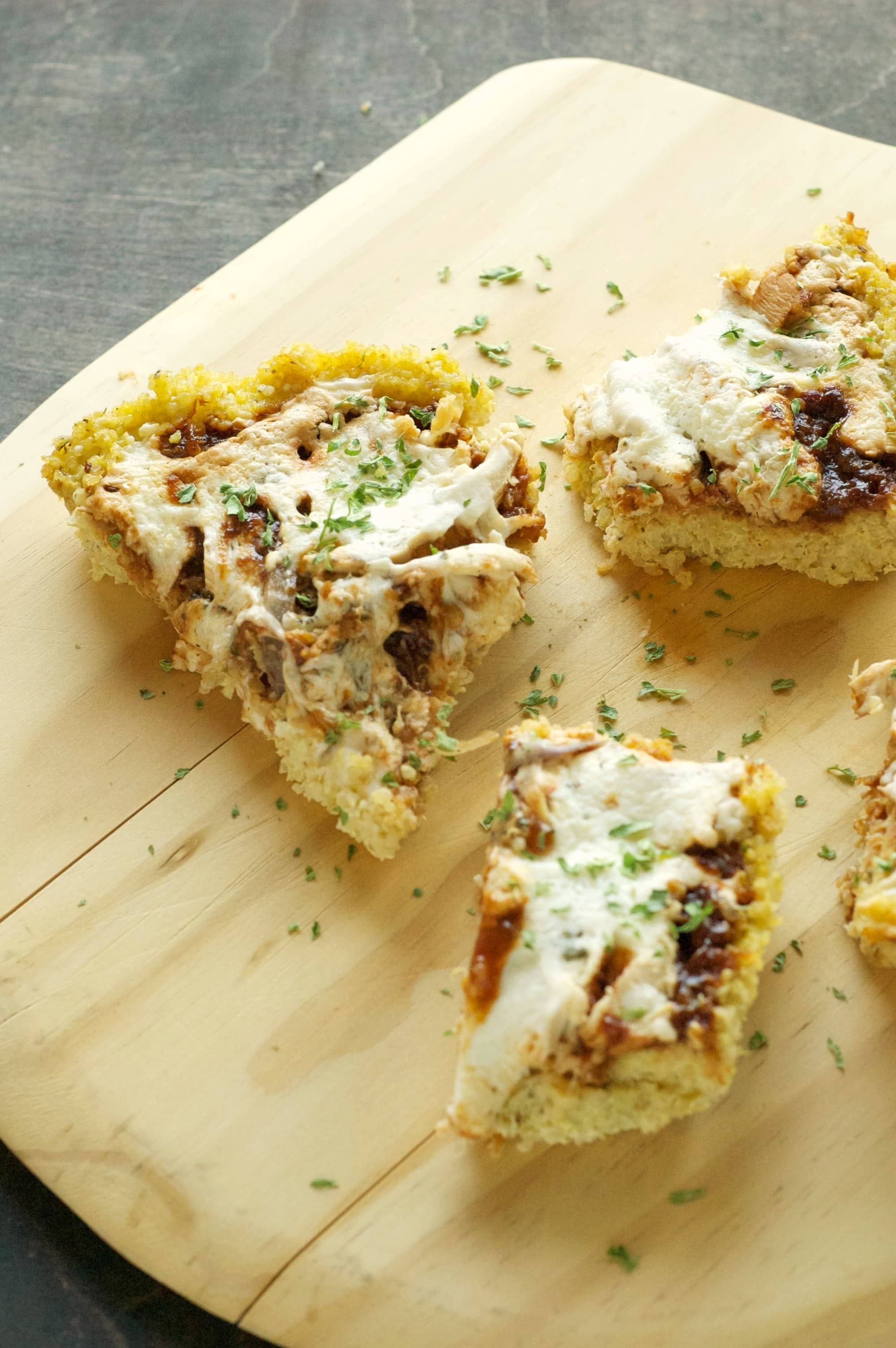 Slow Cooker BBQ Chicken Pizza with Quinoa Crust