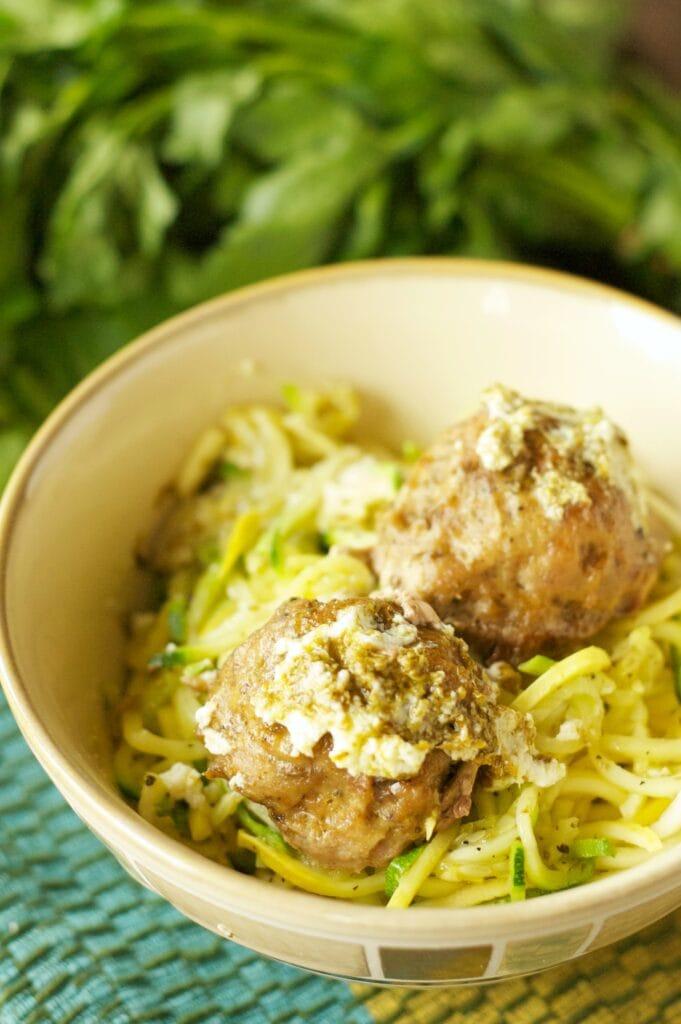 Slow Cooker Herbed Turkey Meatballs