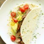 Slow Cooker Spicy Steak Tacos