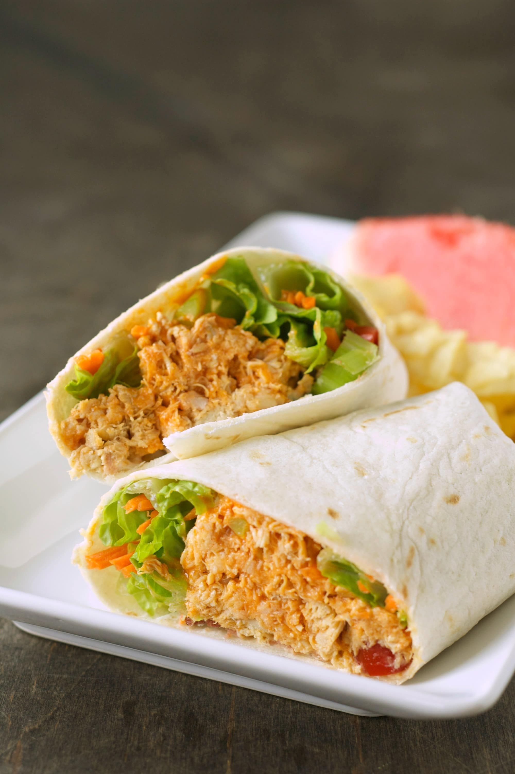 Three Meals One Crock Buffalo Chicken Wraps Slow Cooker Gourmet