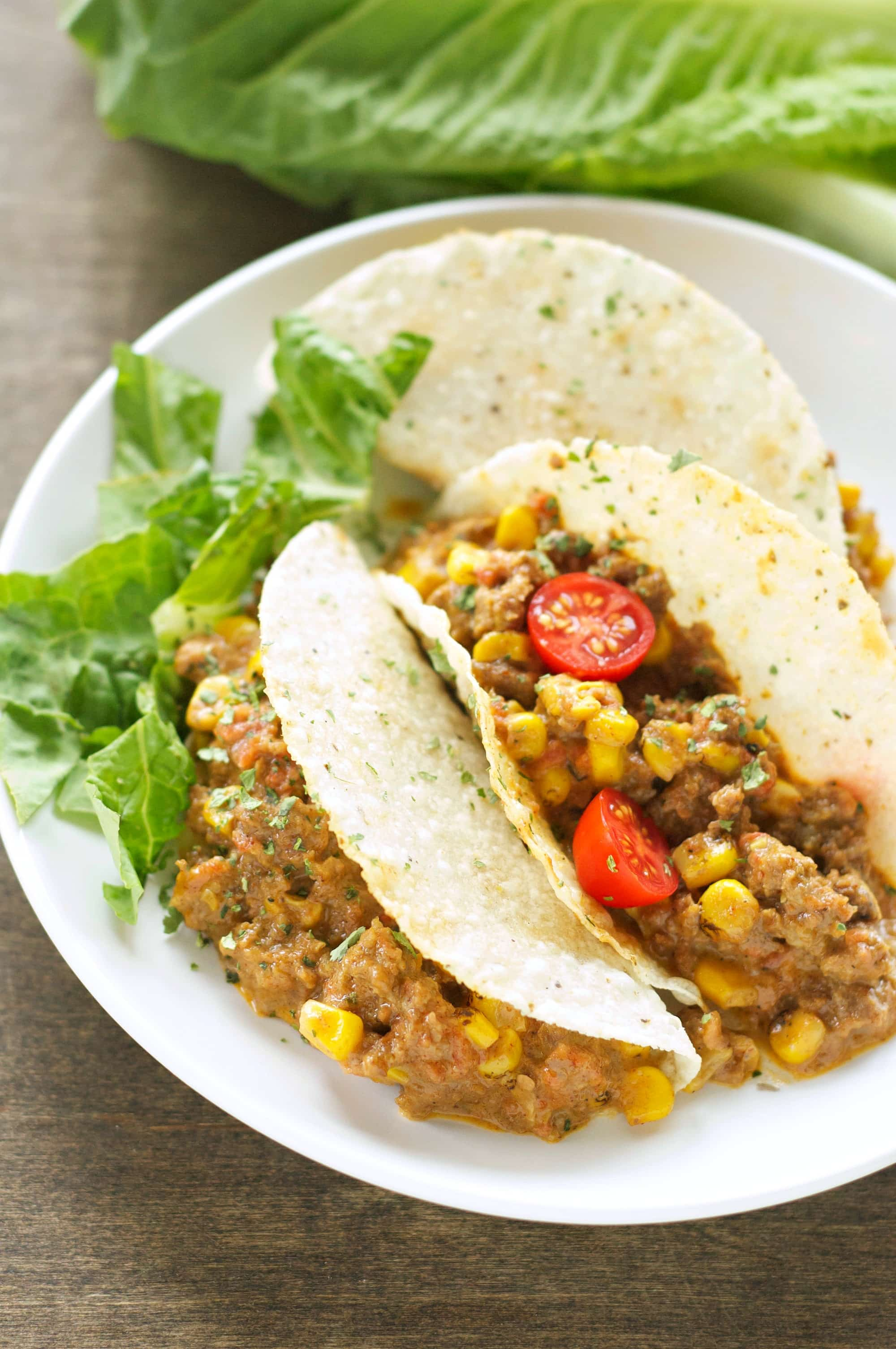 Slow Cooker Cheesy Beefy Tacos