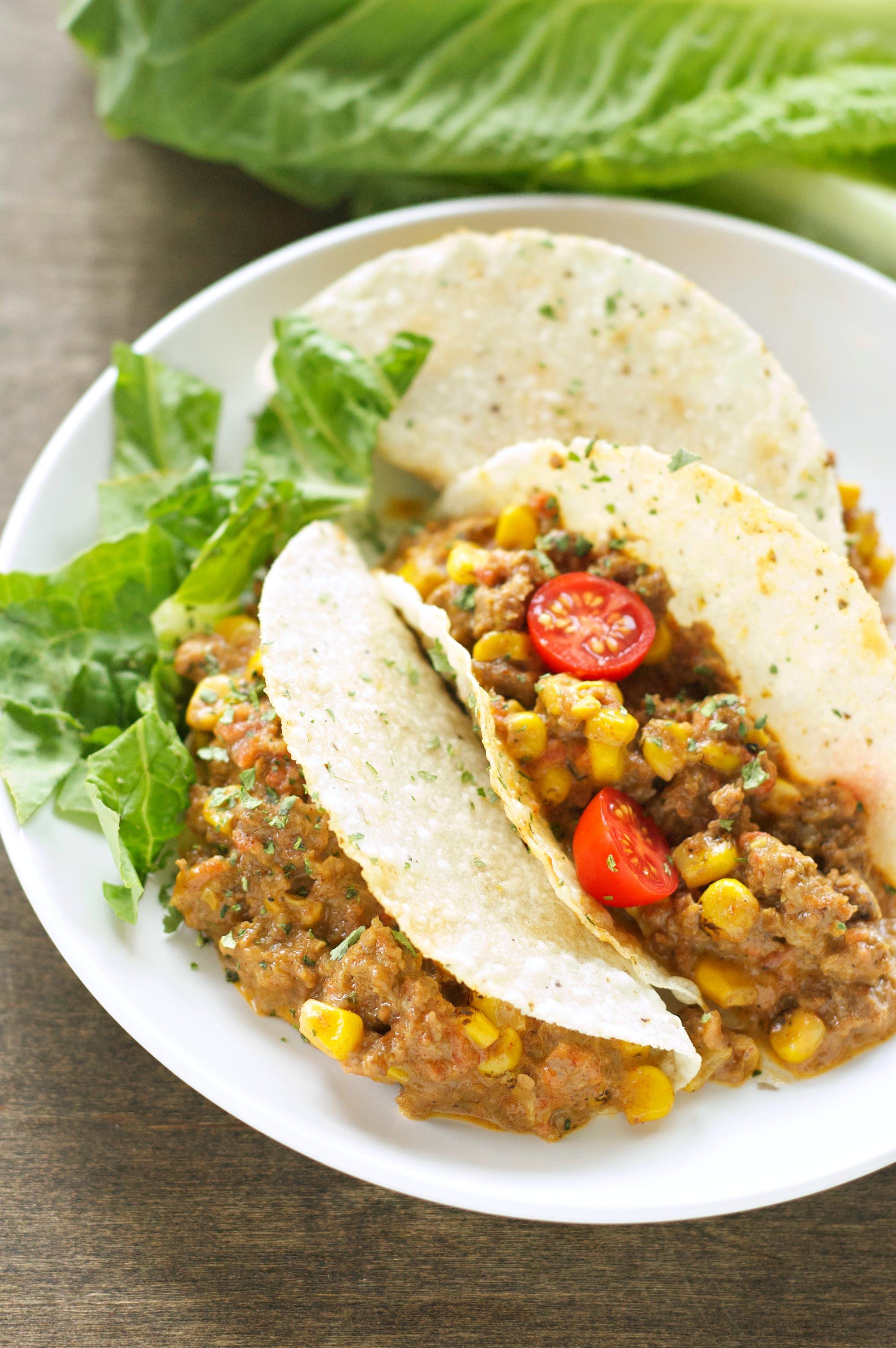 Crockpot Cheesy Beefy Tacos