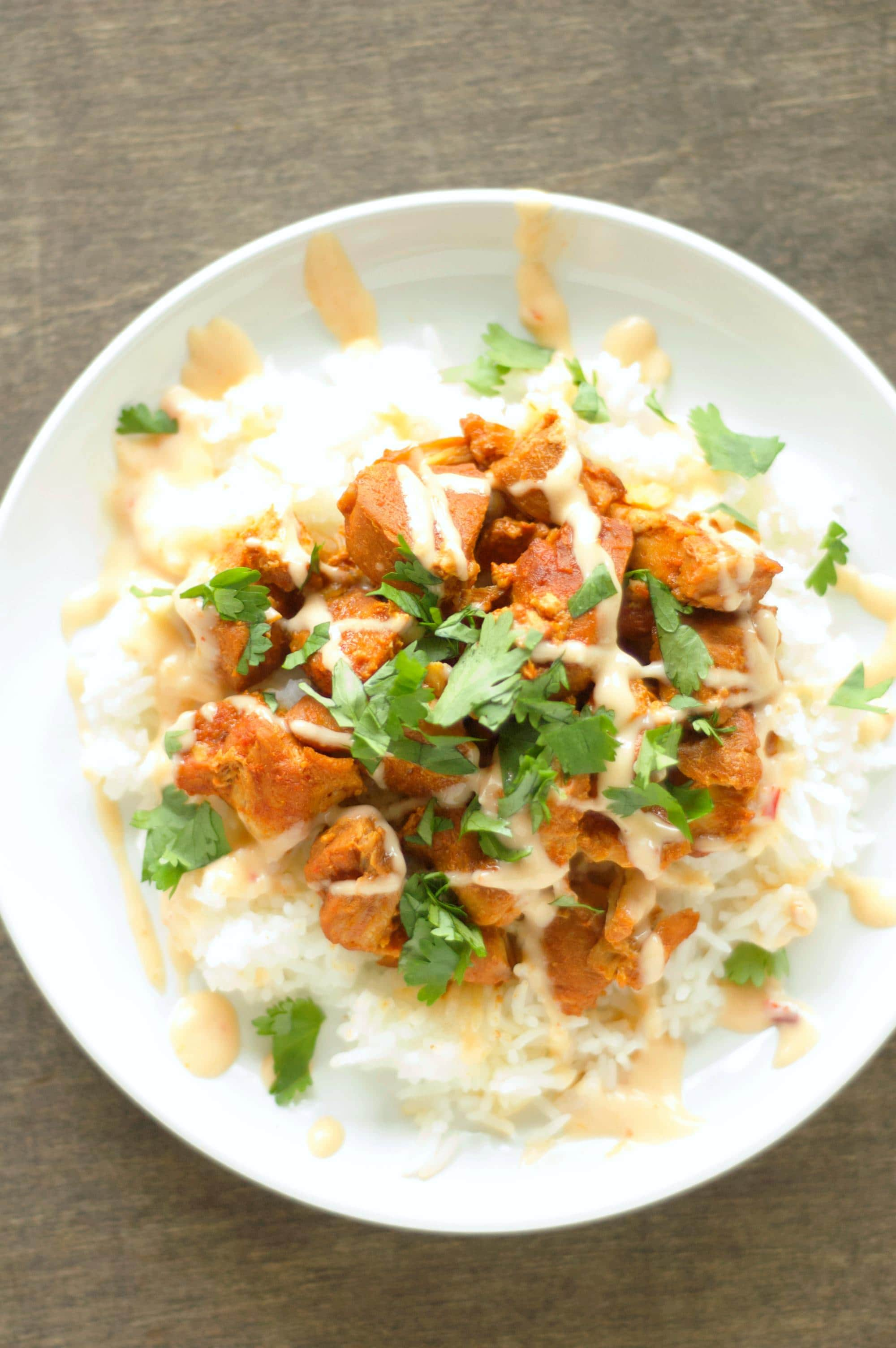 Crockpot Honey Sriracha Chicken