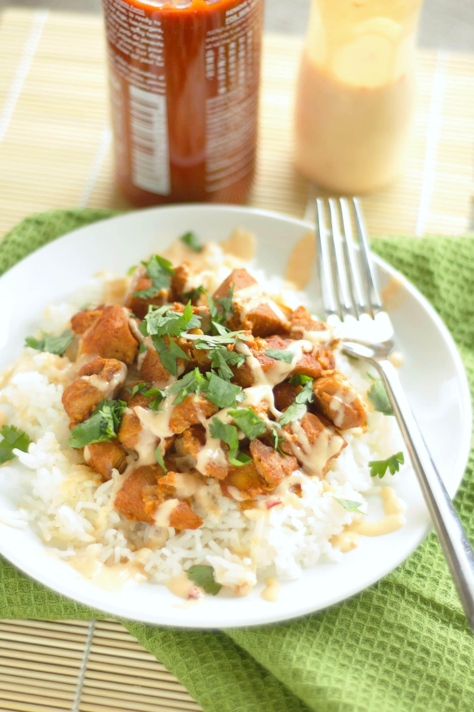 Crockpot Honey Sriracha Chicken