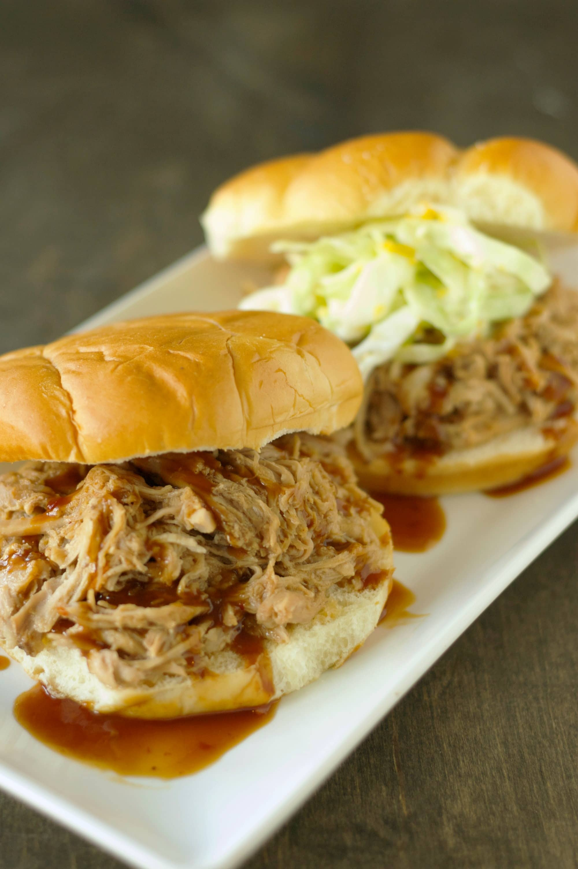 Hawaiian Bbq Pulled Pork Sandwich With Grilled Pineapple