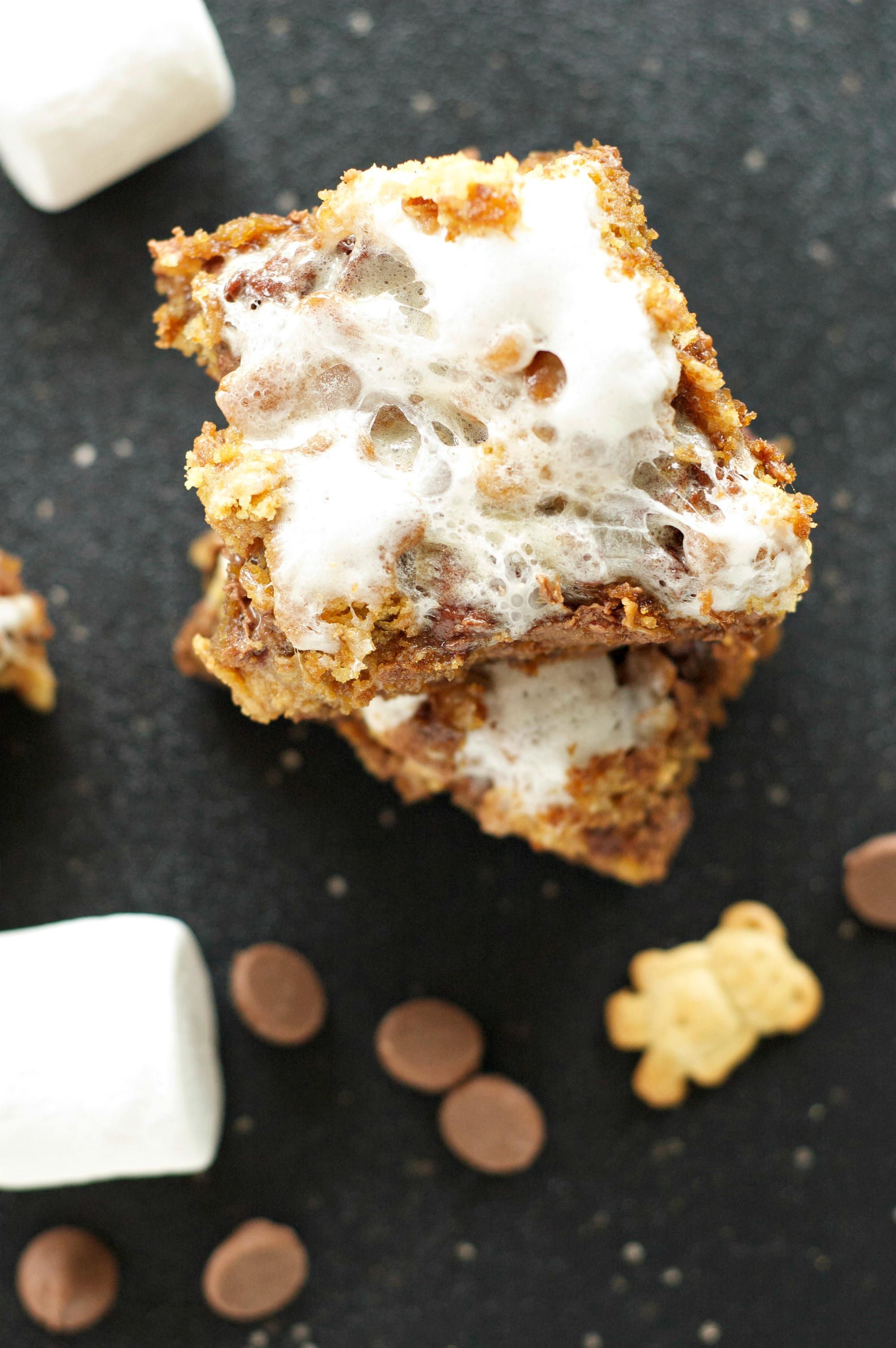 Crockpot S'Mores Cookie Bars