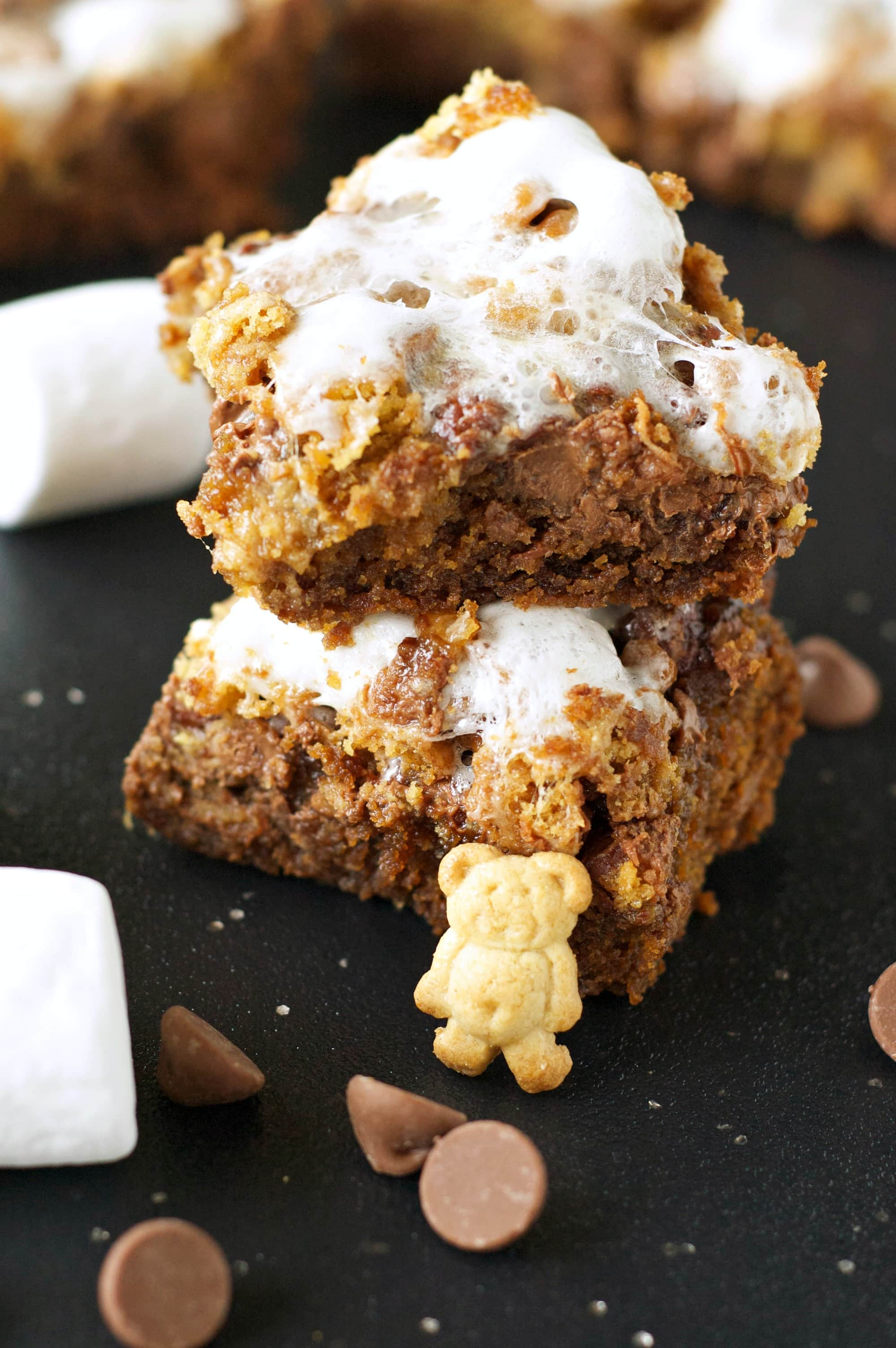 Crockpot S'Mores Cookie Bars