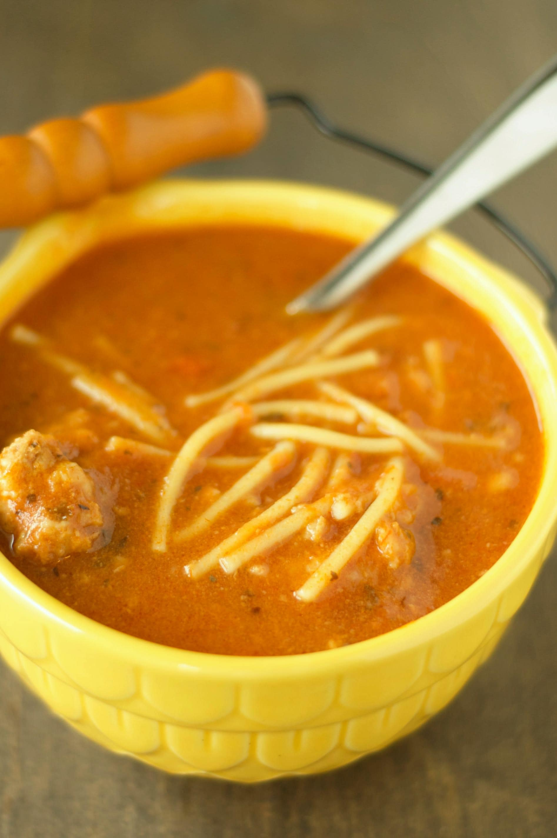 Crockpot Spaghetti and Meatball Soup | Crockpot Gourmet