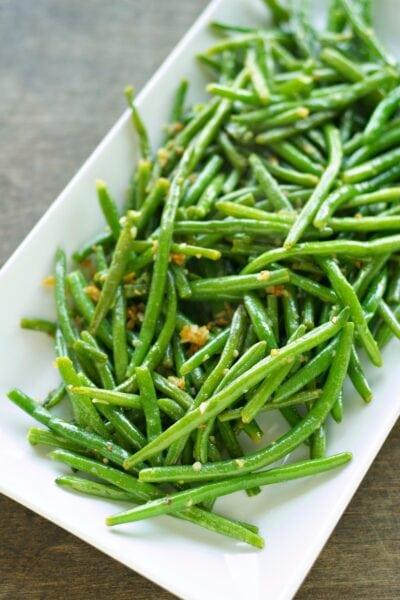 Crispy Garlic Onion Green Beans