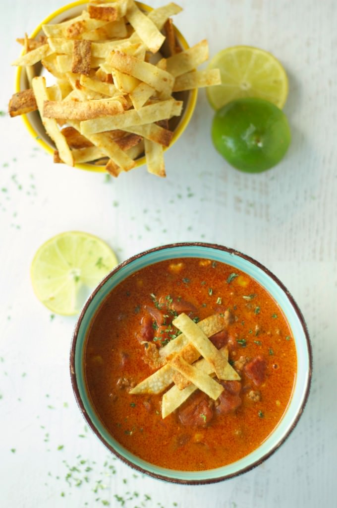 Crockpot Beef Enchilada Soup