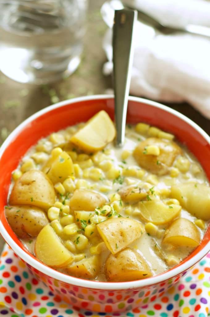 Slow Cooker Corn and Potato Chowder