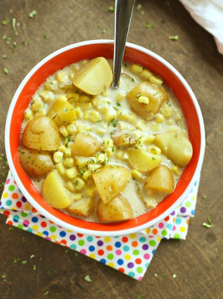 Crockpot Corn and Potato Chowder