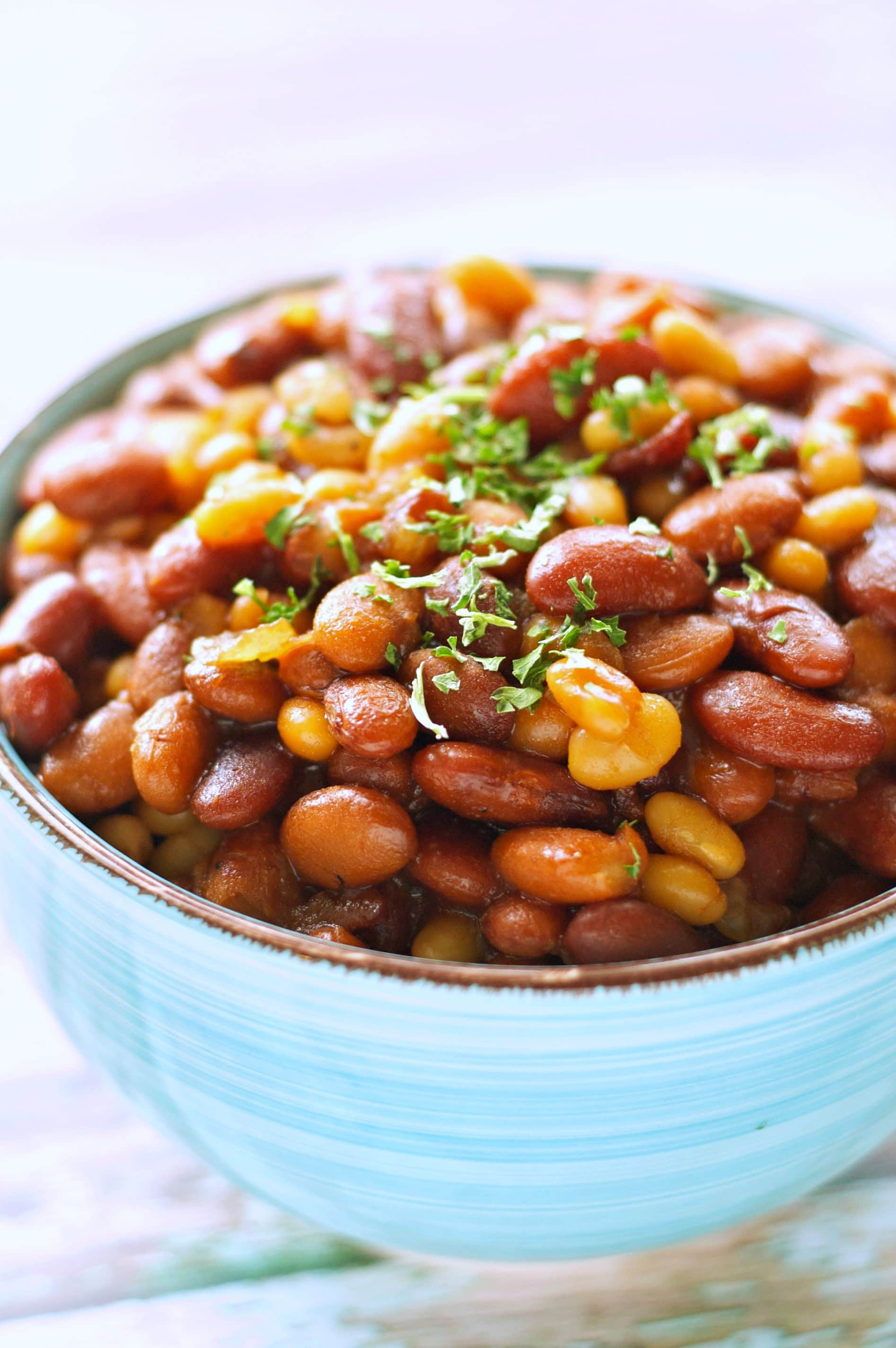 how to cook baked beans in a crock pot