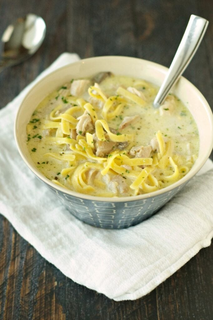 Slow Cooker Creamy Chicken Noodle Soup Slow Cooker Gourmet