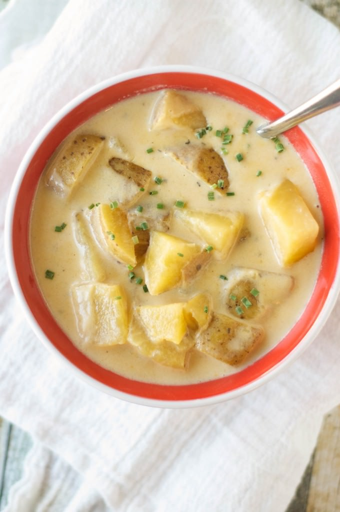 Crockpot Beef Cheese Soup-4