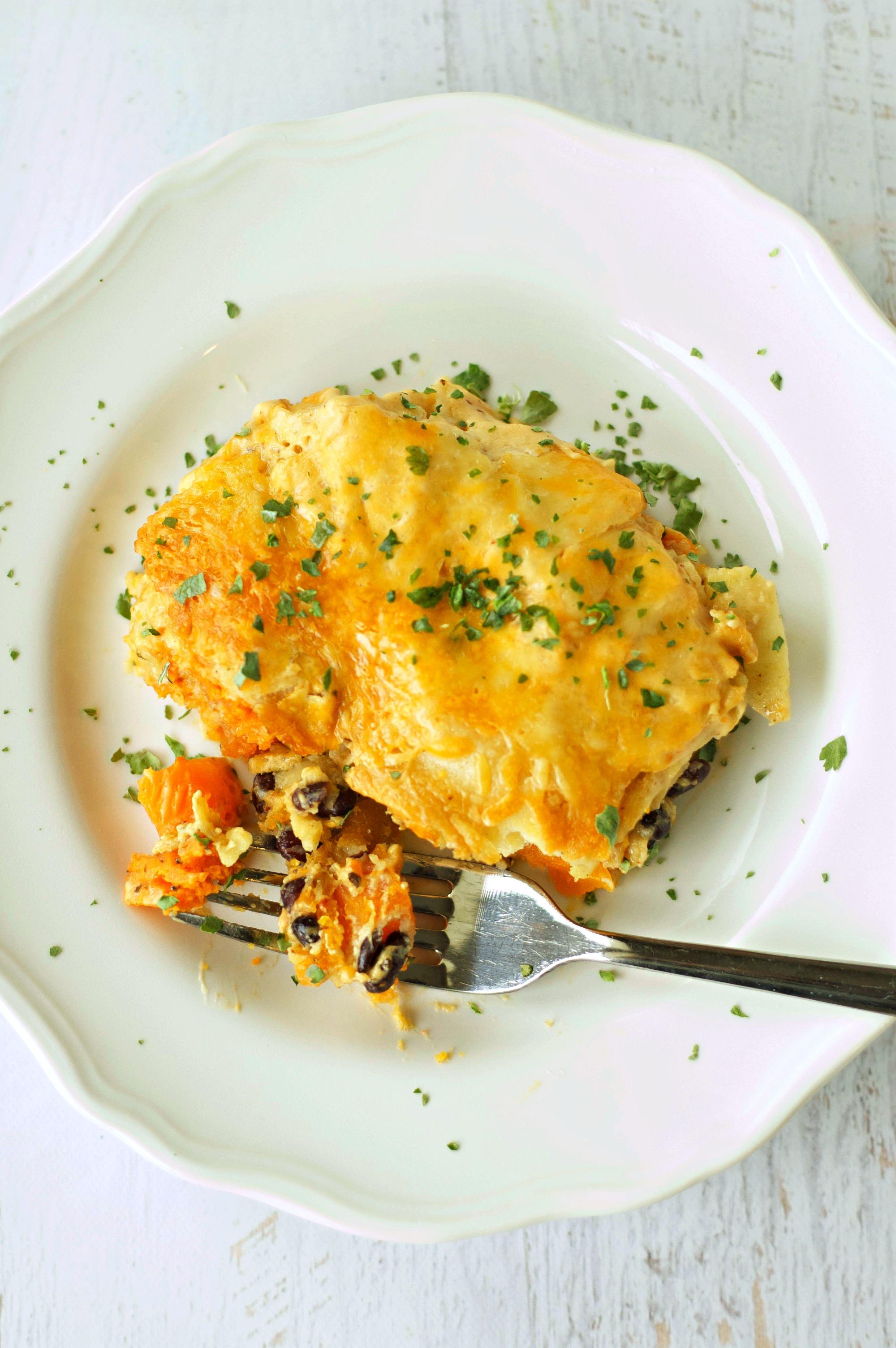 Crockpot Creamy Chipotle Sweet Potato Enchiladas | Crockpot Gourmet