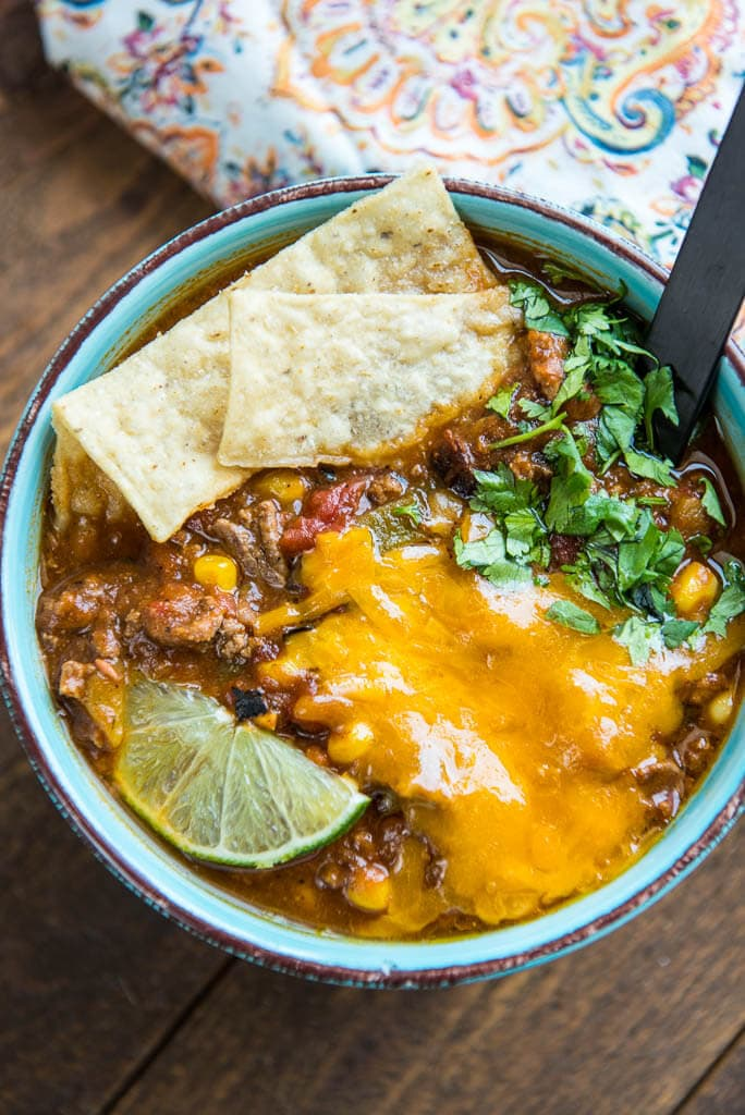 Slow Cooker Taco Soup Slow Cooker Gourmet