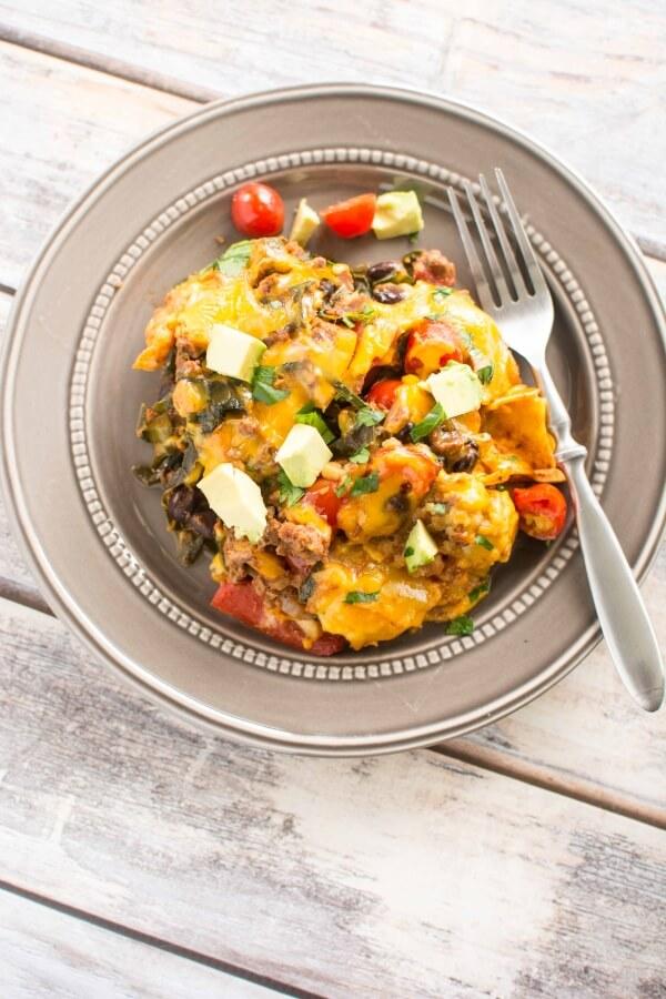 Slow Cooker Healthy Taco Casserole