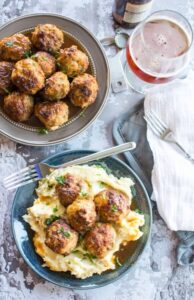 Crockpot Honey Glazed Pork Meatballs