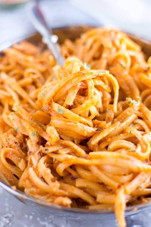 Crockpot Firecracker Chicken Pasta | Crockpot Gourmet