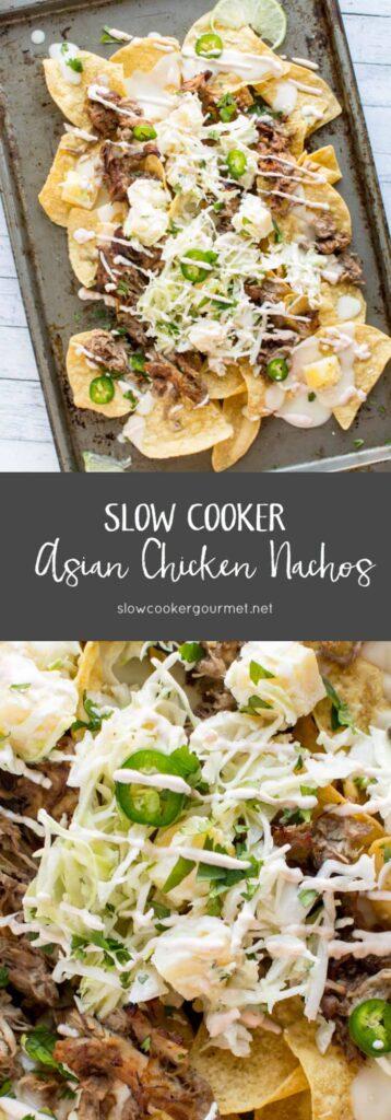 Slow Cooker Asian Chicken Nachos