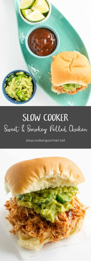 Slow Cooker Sweet & Smoky Pulled Chicken