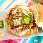 Crockpot Southwest Chicken Sandwiches