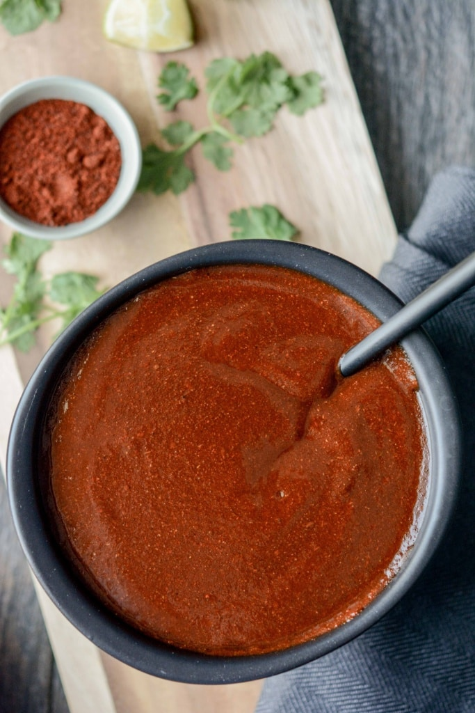 Slow Cooker Ancho Chili Enchilada Sauce