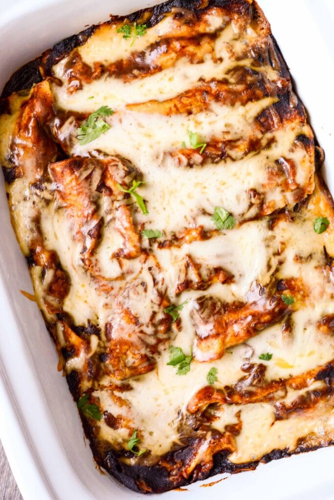 Slow Cooker Spinach And Mushroom Enchiladas Slow Cooker Gourmet