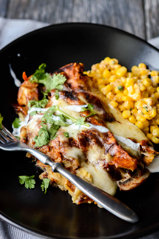 Crockpot Spinach and Mushroom Enchiladas | Crockpot Gourmet