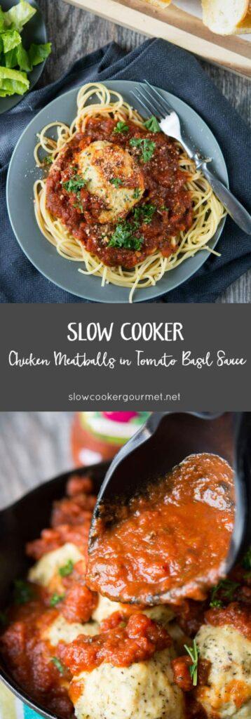 Slow Cooker Chicken Meatballs
