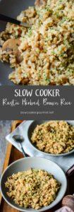 Slow Cooker Rustic Herbed Brown Rice