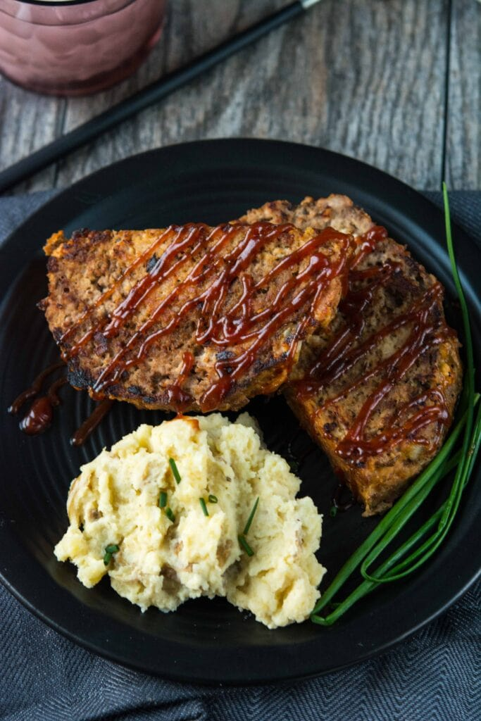 Slow Cooker Meatloaf Mashed Potatoes