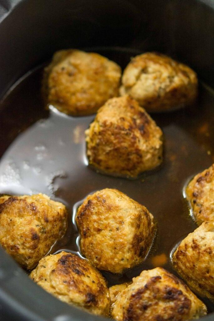 Spicy Beer Can Chicken Meatballs