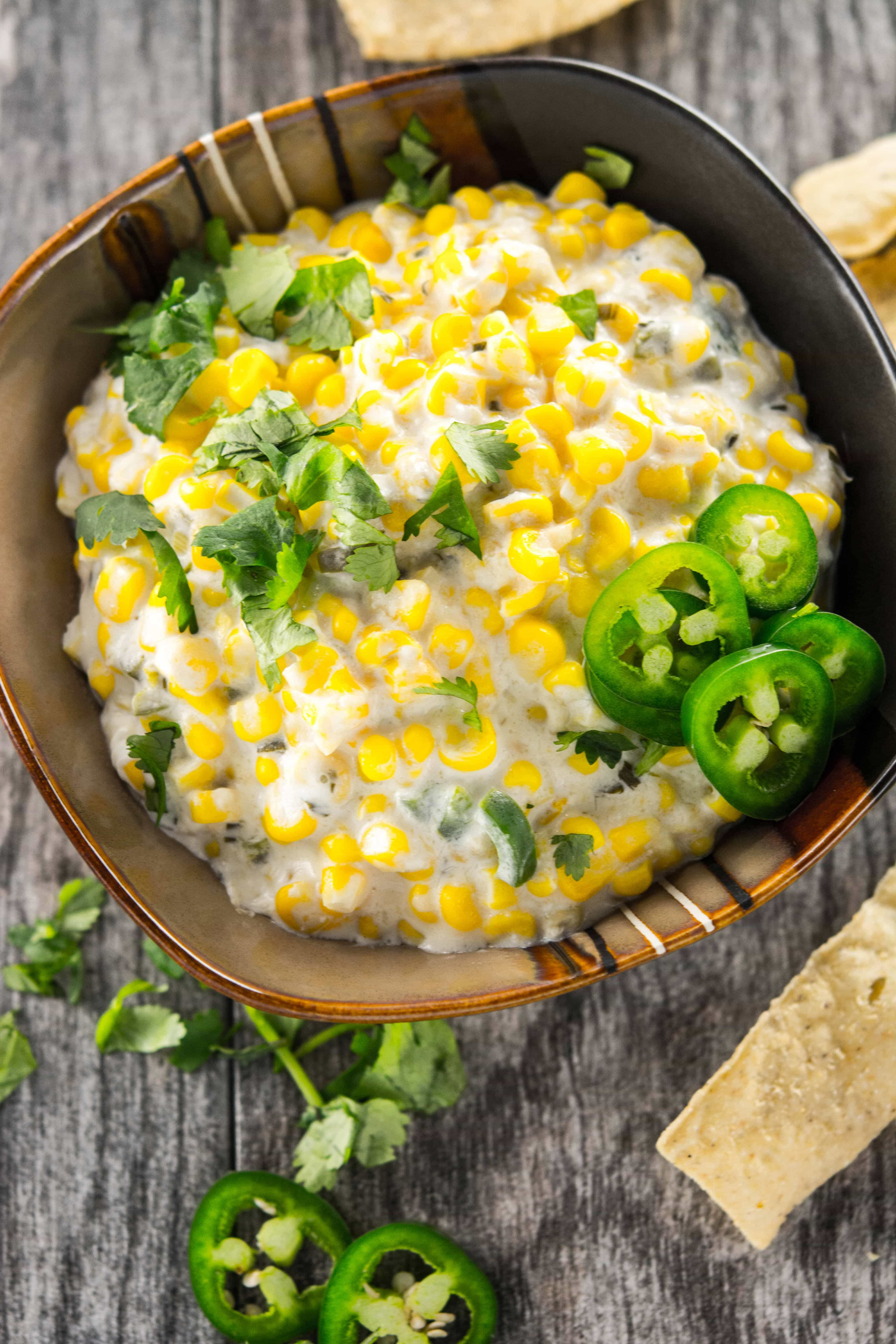 Slow Cooker Jalapeno Corn Dip