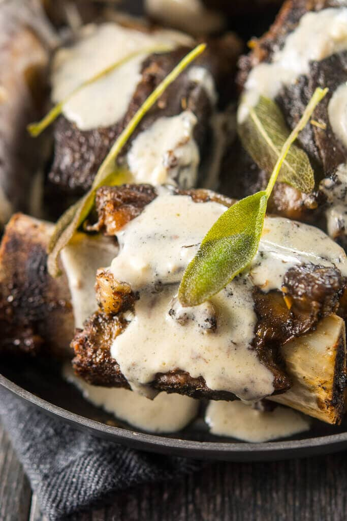 Slow Cooker Sage Butter Short Ribs