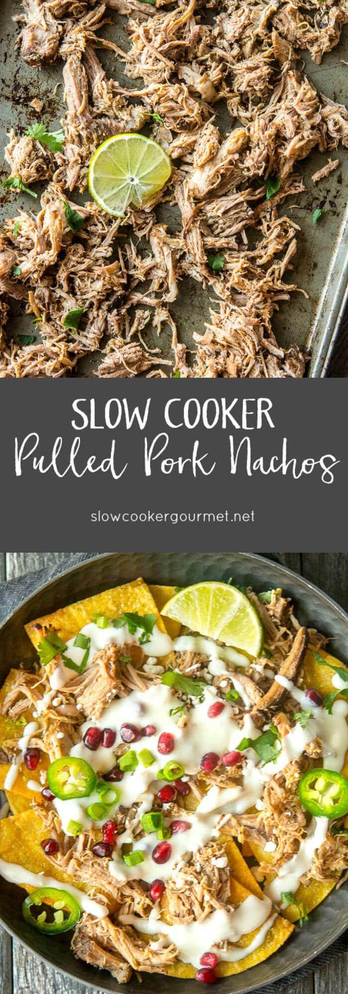 Slow Cooker Pulled Pork Nachos