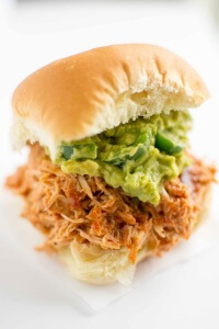 Slow Cooker Sweet and Smoky Pulled Chicken