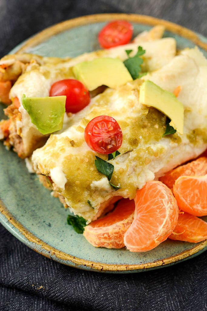 Slow Cooker Breakfast Enchiladas