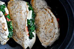 Crockpot Stuffed Chicken Breasts