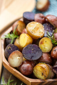 Slow Cooker Rosemary Garlic Tri Color Potatoes