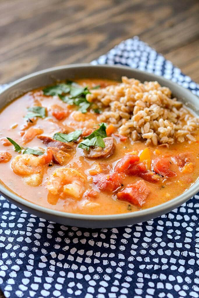 If you've never had gumbo I can assure you that you are totally missing out! If you can't get down south for authentic gumbo, you've got to try this Slow Cooker Spicy Gumbo at home.