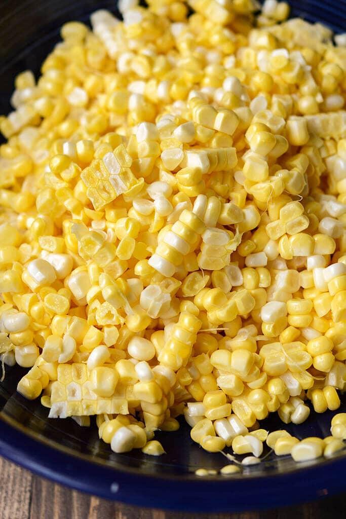 Corn cut off the cob - Slow Cooker Summer Corn Soup