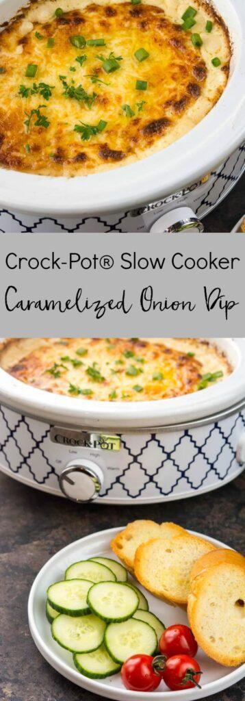 Crockpot Slow Cooker Caramelized Onion Dip