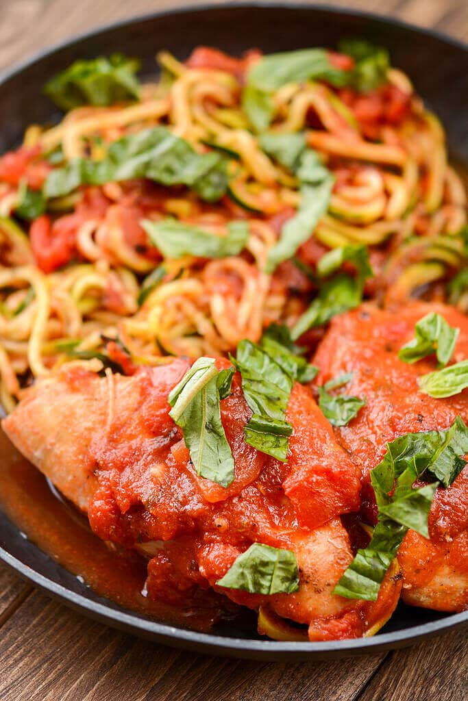 Sometimes simple is best! This Slow Cooker Chicken in Tomato Sauce uses simple ingredients yet delivers maximum flavors!